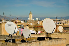 Pratos satélites Foto de Stock Royalty Free