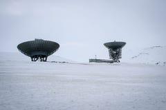 Pratos satélites Fotos de Stock