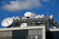 Pratos satélites Fotografia de Stock Royalty Free