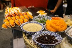 Pratos tailandeses imagens de stock royalty free