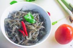 Pratos tailandeses com camarão e pimentão e especiarias, alimento de Yum Kuggetgn mim fotografia de stock royalty free