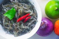 Pratos tailandeses com camarão e pimentão e especiarias, alimento de Yum Kuggetgn mim foto de stock royalty free