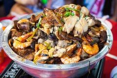 Pratos tradicionais chineses da placa Fotografia de Stock