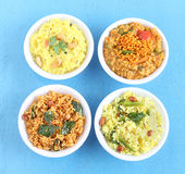 Pratos tradicionais indianos sul do arroz do vegetariano Foto de Stock Royalty Free