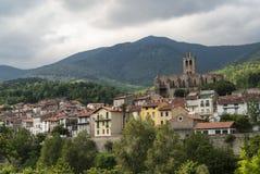 Prats-de-Mollo-Ла-Preste (Пиренеи, Франция) стоковое фото