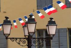 Prats-De-Mollo-La-Preste (Pyrenäen, Frankreich): Am 14. Juli Stockfotografie