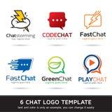 Pratstund Logo Template Design Vector Arkivbilder