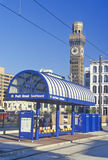 Pratt Street Metro Stop, Baltimore, Maryland royalty free stock photo