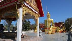 Pratumnak小山和大金黄菩萨雕象在芭达亚,泰国 股票视频