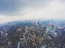 Pratunam la ville de Bangkok Photo libre de droits