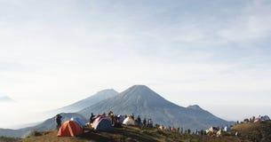 Prau山,印度尼西亚 免版税库存照片