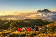 Prau mountain stock image