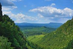 Pravcicka突岩,捷克瑞士,捷克 库存照片