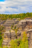 Pravcicka brana the largest natural sandstone arch in Europe in Czech Switzerland National Park Royalty Free Stock Image