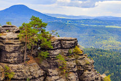Pravcicka brana the largest natural sandstone arch in Europe in Czech Switzerland National Park Stock Photo