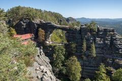 Pravcicka Brana National Park Bohemia Switserland fotografering för bildbyråer