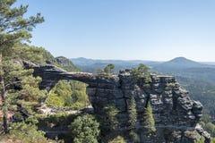 Pravcicka Brana National Park Bohemia Switserland immagine stock
