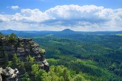 Pravcicka-Felsen, Tscheche die Schweiz, Tschechische Republik Stockfotografie