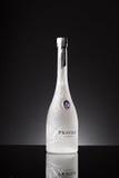 Pravda vodkaflaska royaltyfri fotografi