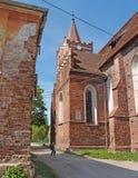 PRAVDINSK,俄罗斯 市的历史区Fridland 库存图片