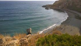 Praveli beach in crete Royalty Free Stock Image