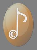 prawa autorskiego ikony musical Zdjęcie Royalty Free