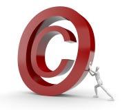 prawa autorskiego mężczyzna oceny rolki ilustracja wektor