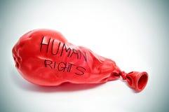 Prawa człowieka Fotografia Stock
