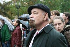 Prawa człowieka aktywista Valery Borshchev przy obrazy royalty free