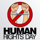 Prawa Człowieka dnia wektoru szablon Obraz Stock