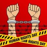 Prawa Człowieka dnia wektoru szablon Zdjęcie Royalty Free