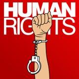 Prawa Człowieka dnia wektoru szablon Zdjęcia Royalty Free