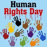 Prawa Człowieka dnia wektoru szablon Fotografia Stock
