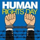 Prawa Człowieka dnia wektoru szablon Zdjęcia Stock