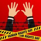 Prawa Człowieka dnia wektoru szablon Obrazy Stock
