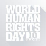 Prawa Człowieka dnia wektoru szablon Zdjęcie Stock