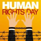 Prawa Człowieka dnia wektoru szablon Obraz Royalty Free