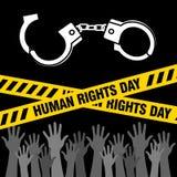 Prawa Człowieka dnia wektoru szablon Fotografia Royalty Free