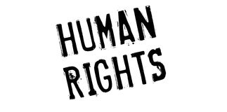 Prawa Człowieka pieczątka fotografia royalty free
