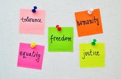 Prawa człowieka d Obrazy Royalty Free
