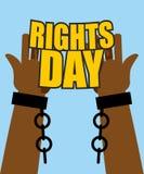 Prawa Człowieka dzień Plakat dla Międzynarodowego festiwalu Ręka niewolnik w Obrazy Stock