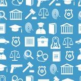 Prawa i sprawiedliwości Bezszwowy Deseniowy tło wektor royalty ilustracja