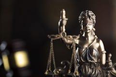Prawa i sprawiedliwości pojęcie Miejsce dla teksta i typografii Fotografia Stock
