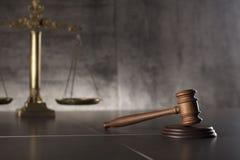 Prawa i sprawiedliwości temat Prawo symbole miejsce tekst Fotografia Royalty Free