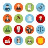 Prawa mieszkania ikony Zdjęcie Stock