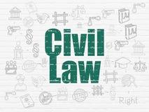 Prawa pojęcie: Prawo Cywilne na ściennym tle Zdjęcie Stock