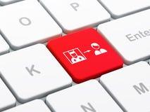 Prawa pojęcie: Przestępca Uwalniająca na komputerowej klawiatury tle Zdjęcie Stock