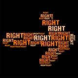 Prawa pomarańcze Obrazy Stock