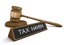 Prawa przeciw bezprawnym podatek przystaniom dla na morzu pieniędzy kont Obrazy Stock