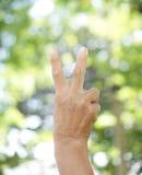 Prawa ręka dźwignięcie języka ciała tło i tekstura Zdjęcie Stock